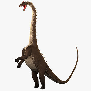 3d model diplodocus pose 2