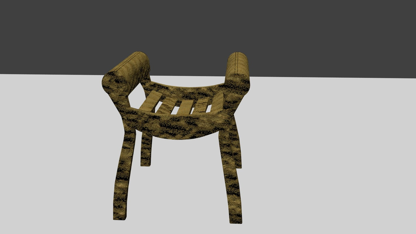 3ds max wooden dressing table chair stool