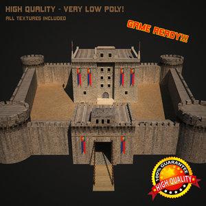 3d medieval castle model