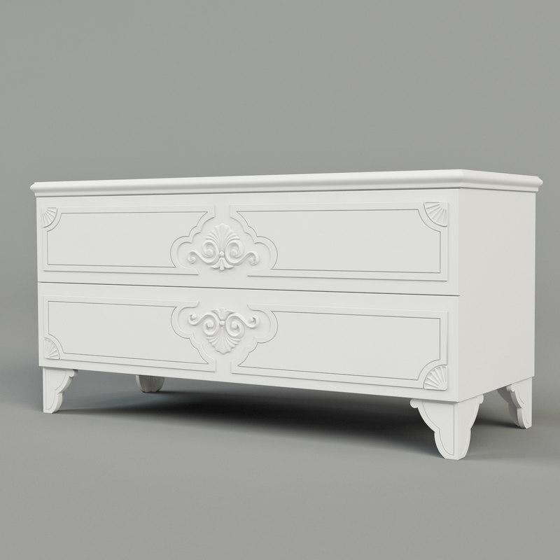 3d chest drawers morfeo model