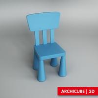 chair children s 3d model