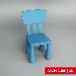 chair children s 3d model