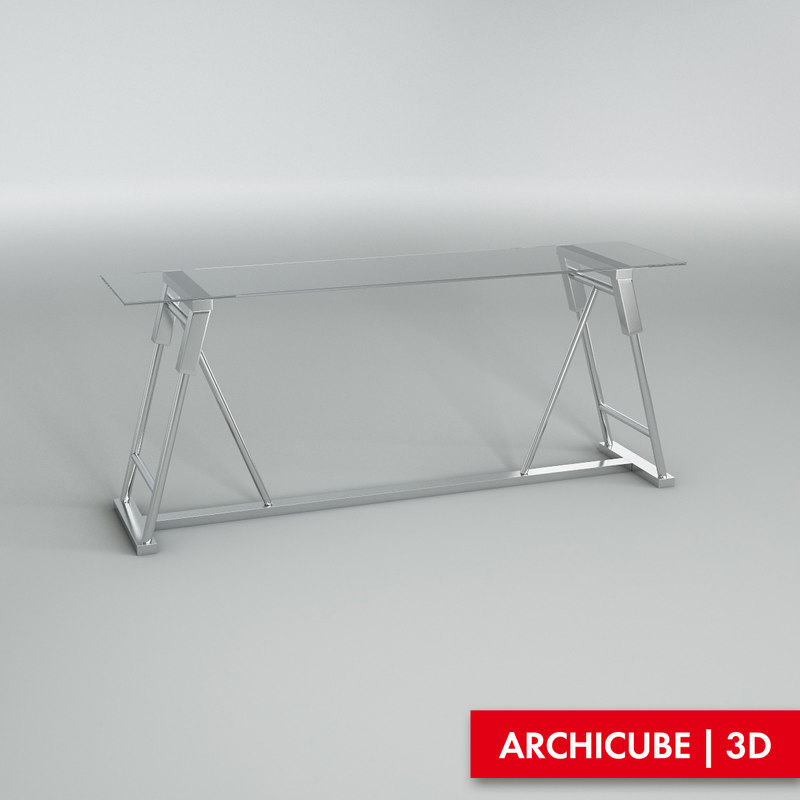 3d console table