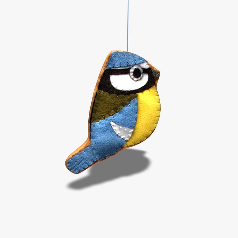 3d handcrafted bird mobile