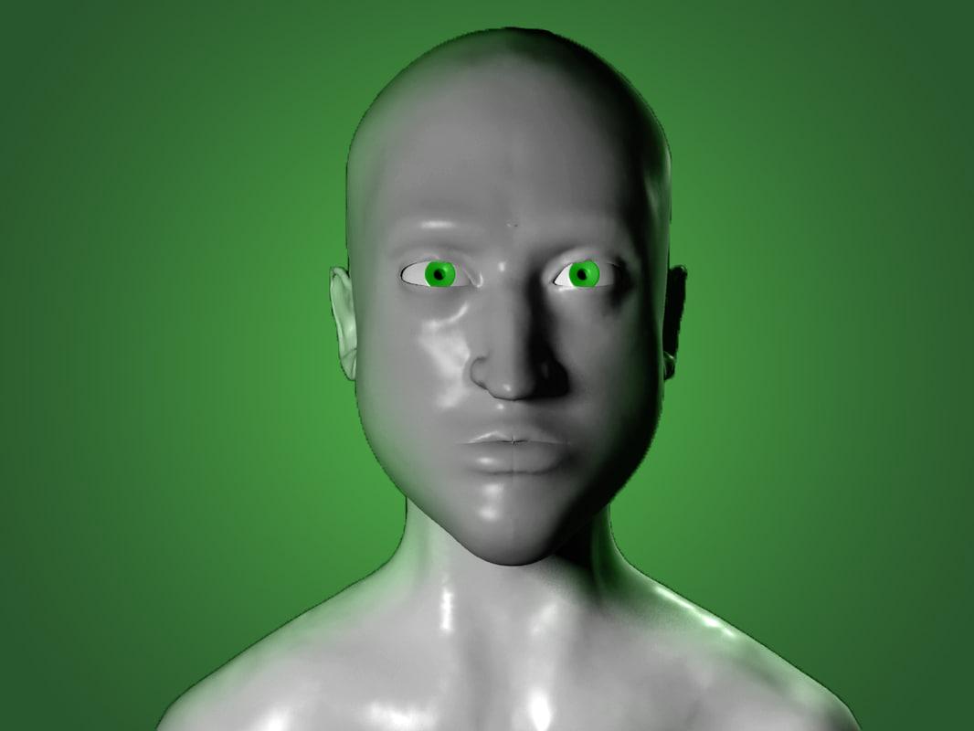 stylized bust 3d model