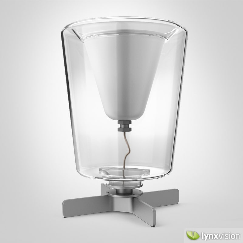 3d model lanterna table lamp oluce