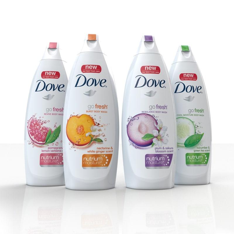 3d dove bodywash