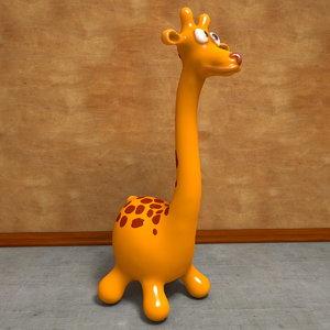 3d model giraffe toon cartoon
