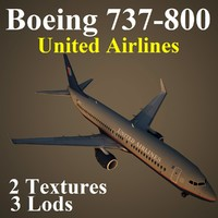 boeing 737-800 ual 3d max