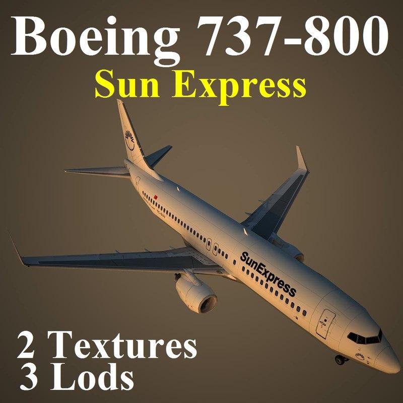3d model boeing 737-800 sxs
