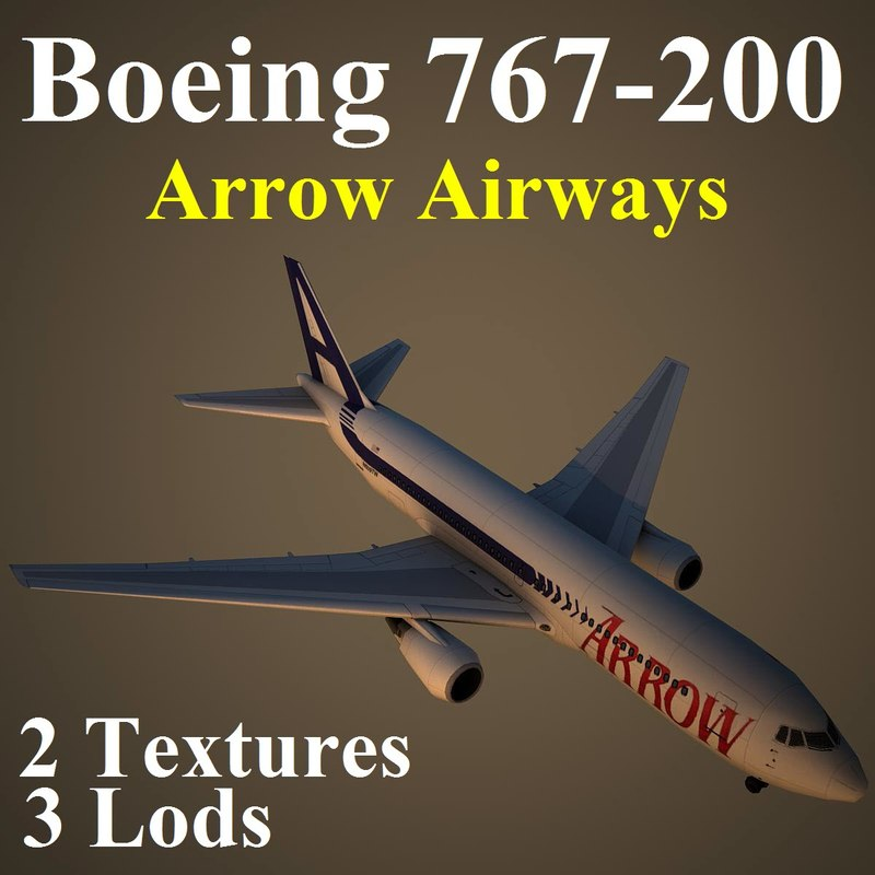 3d boeing 767-200 apw
