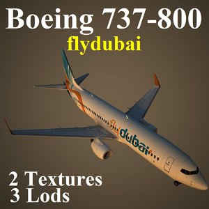 3d model boeing 737-800 fzx