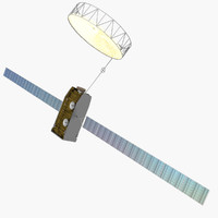 3d model inmarsat-4 communications satellites