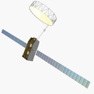 3d model inmarsat-4 communications satellites