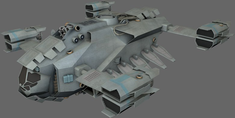 dropship spaceships 3ds