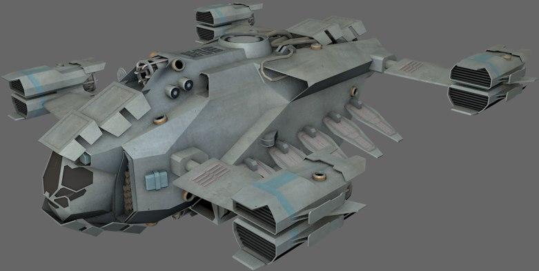 dropship spaceships 3d model