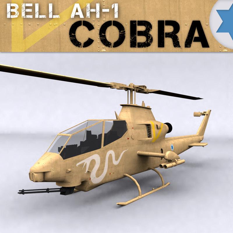 israeli bell ah-1 cobra 3d model