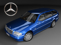 mercedes-benz c220 estate s202 3ds