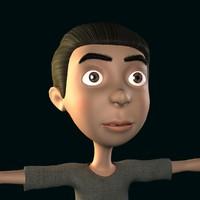 child kid 3d model