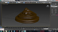 3d poop cartoon poo model
