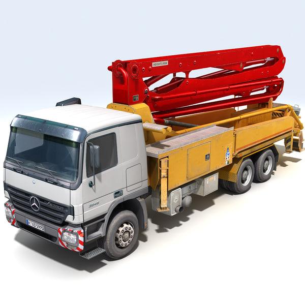 3d model concrete pumper