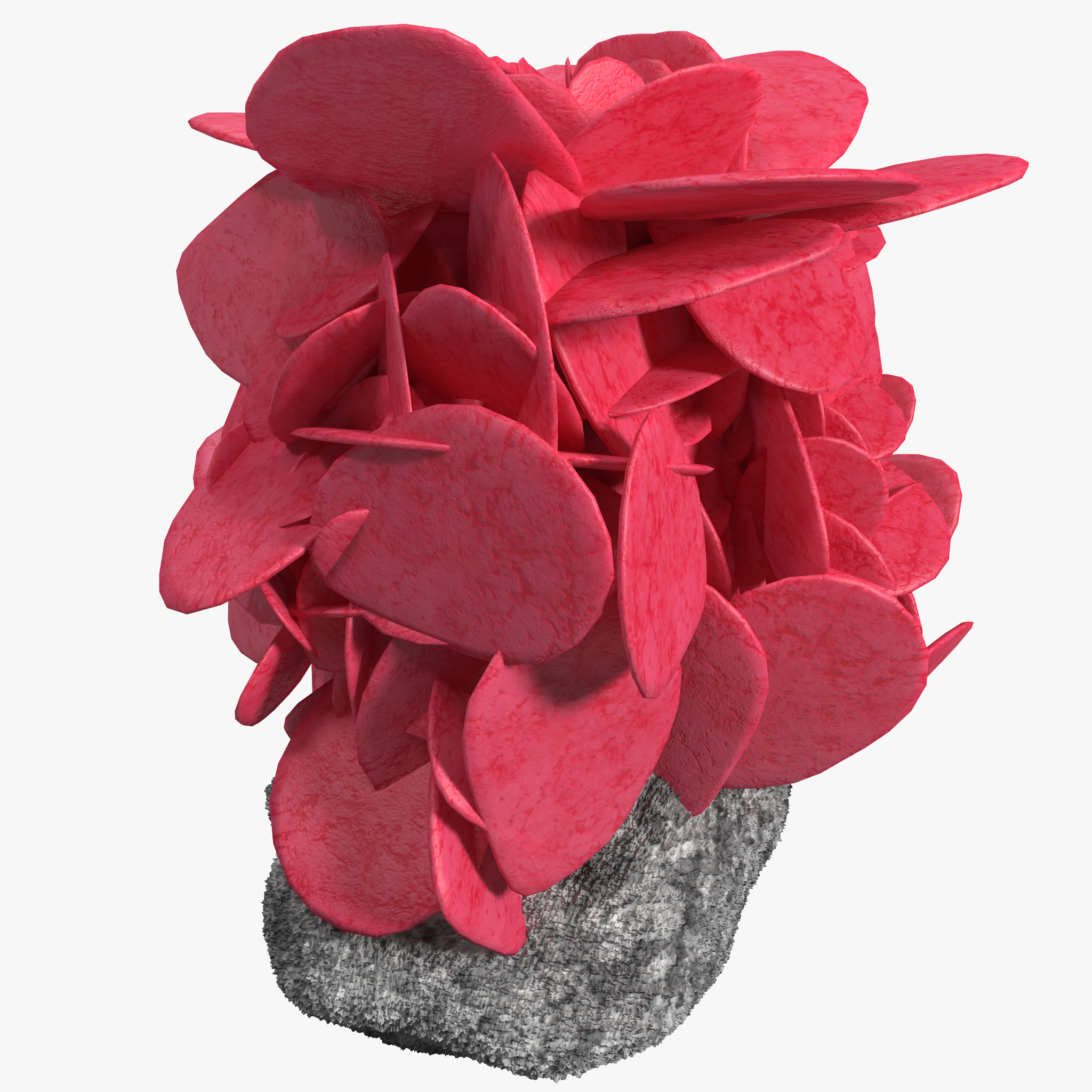 red quartz crystals 3d model