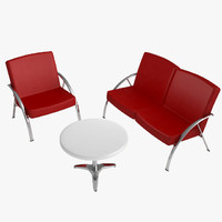 3d contemporary table chairs