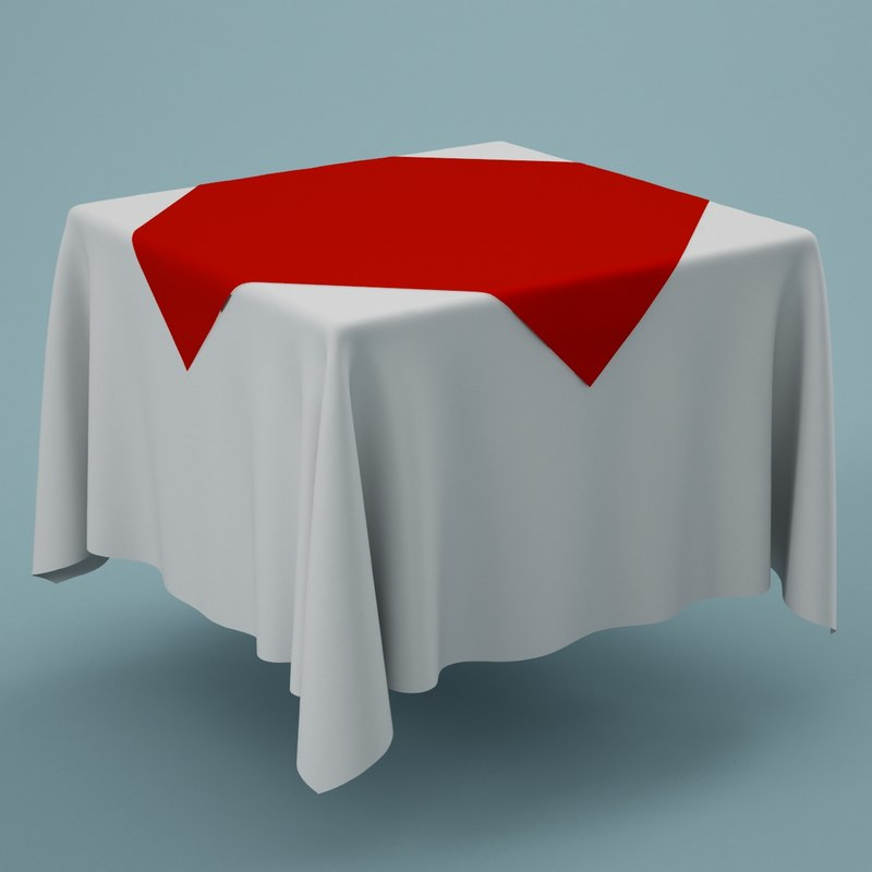 3d cloth tablecloth table