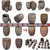 Wooden Barrel Collection Old New Gin ancient blacksmith
