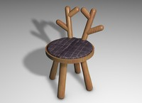 wood chair 3d 3ds