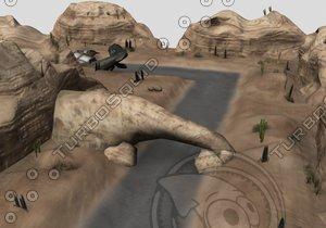 desert l t obstacles 3d 3ds