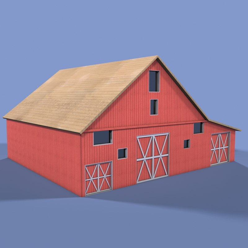 3d model farm house for Farm house model