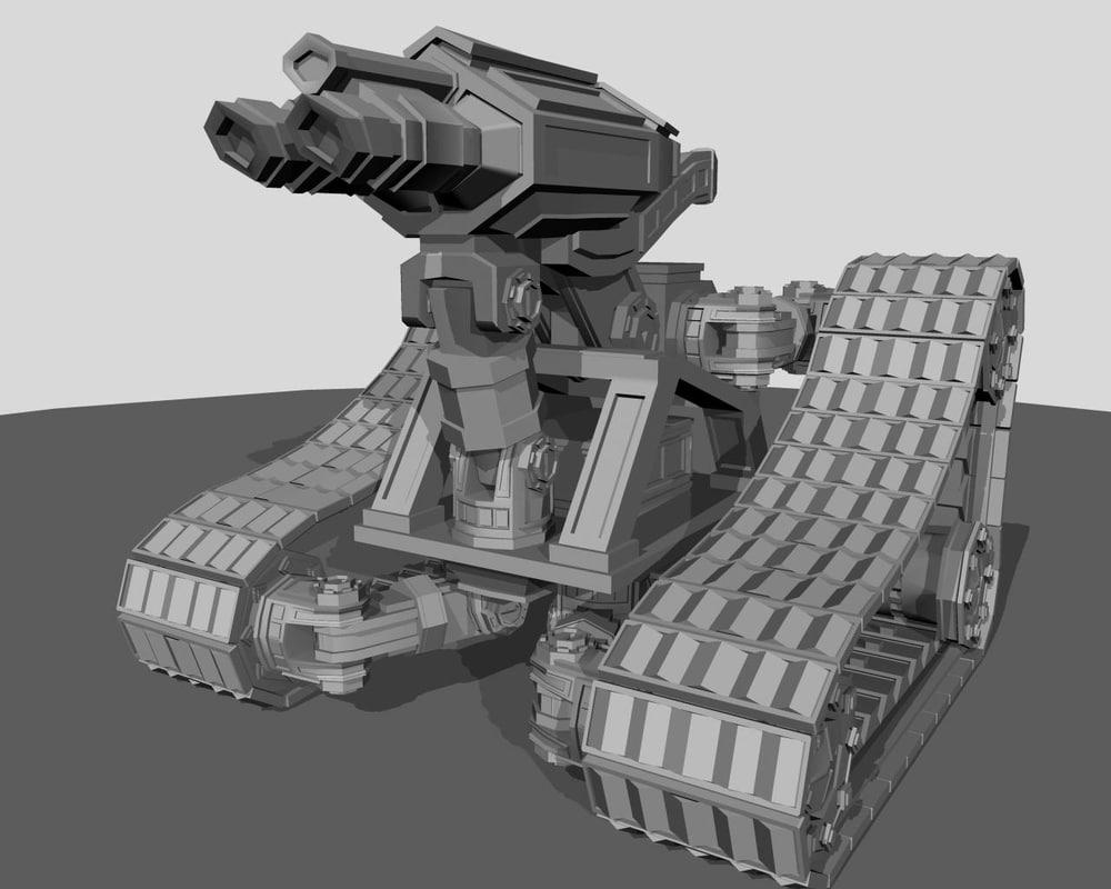 3d obj robot scout
