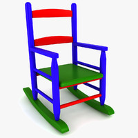 kids rocking chair 3d dxf