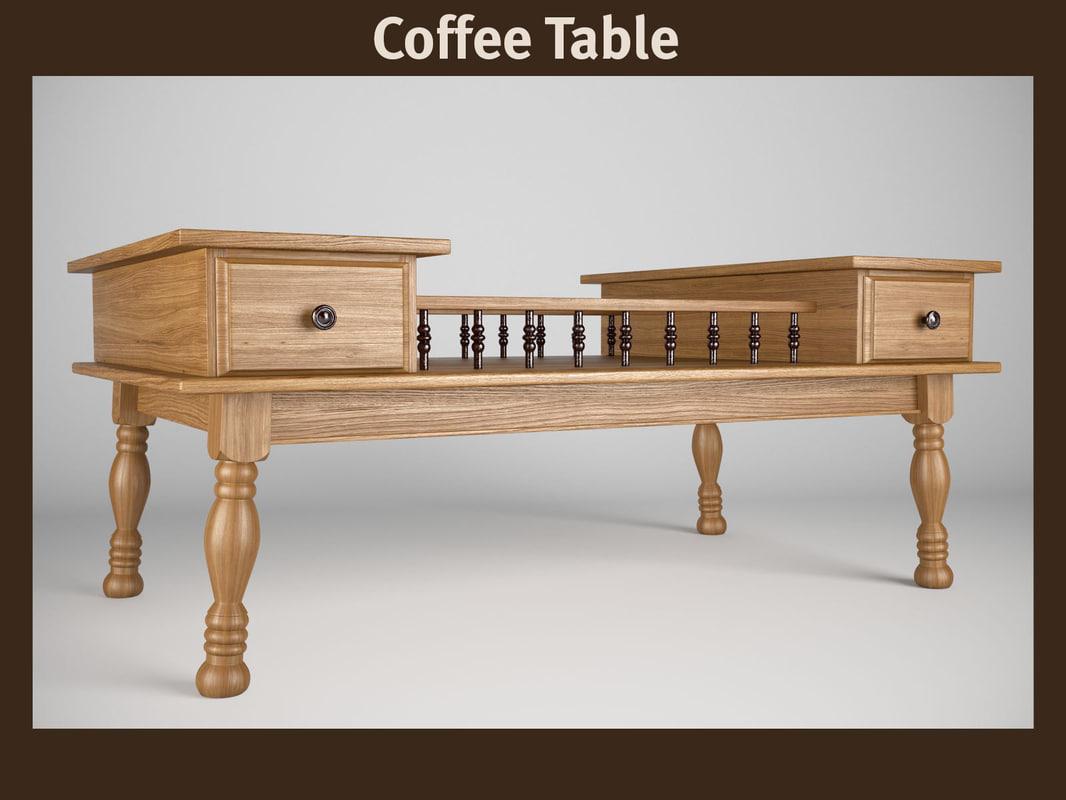 3d vintage coffee table