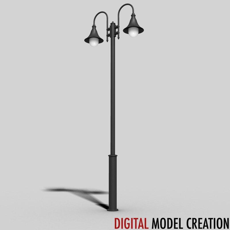 3d cast iron street lamp