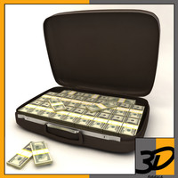 samsonite suitcase dollars c4d
