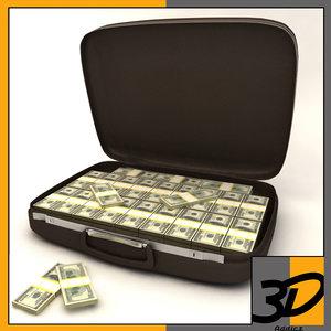 samsonite suitcase dollars c4d