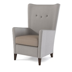 morgan lounge chair 3d max