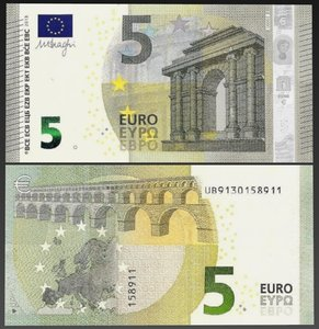 3d model new 5 euro money