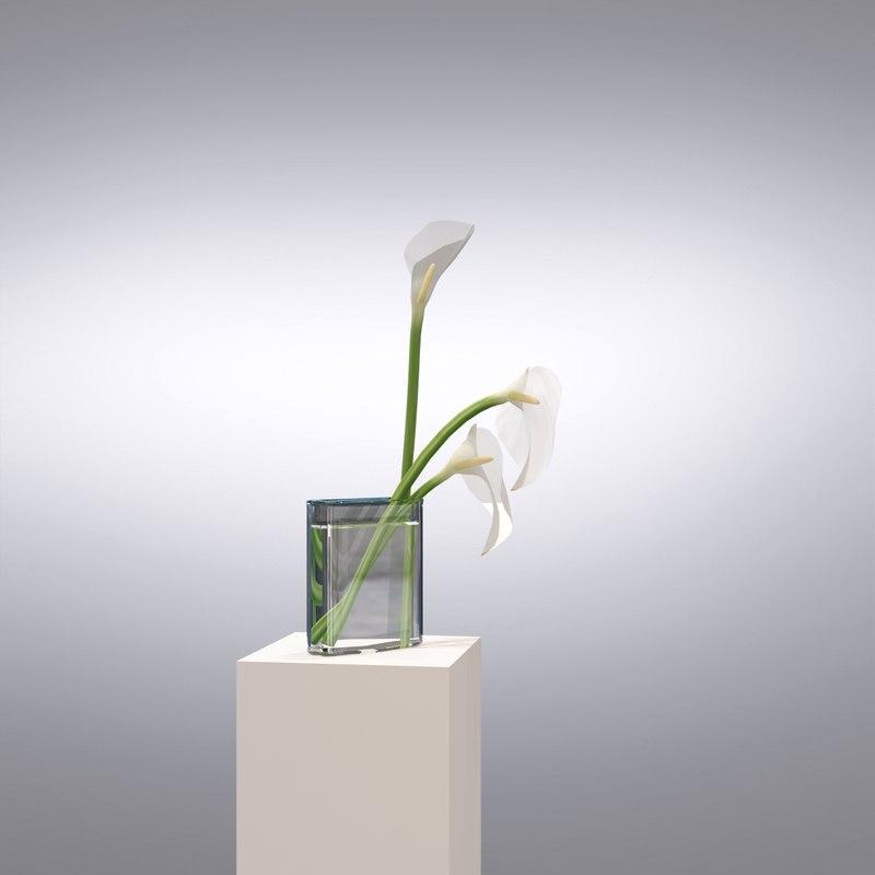 3ds max vase flower