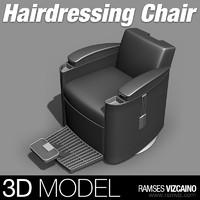 3d hairdressing chair model