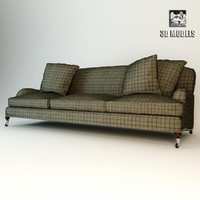 plaid sofa ralph 3d max