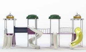 playground water park slides obj