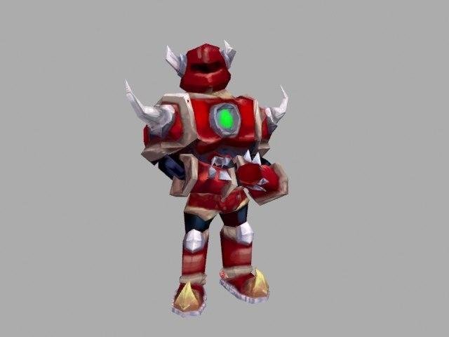 red knight 3d fbx