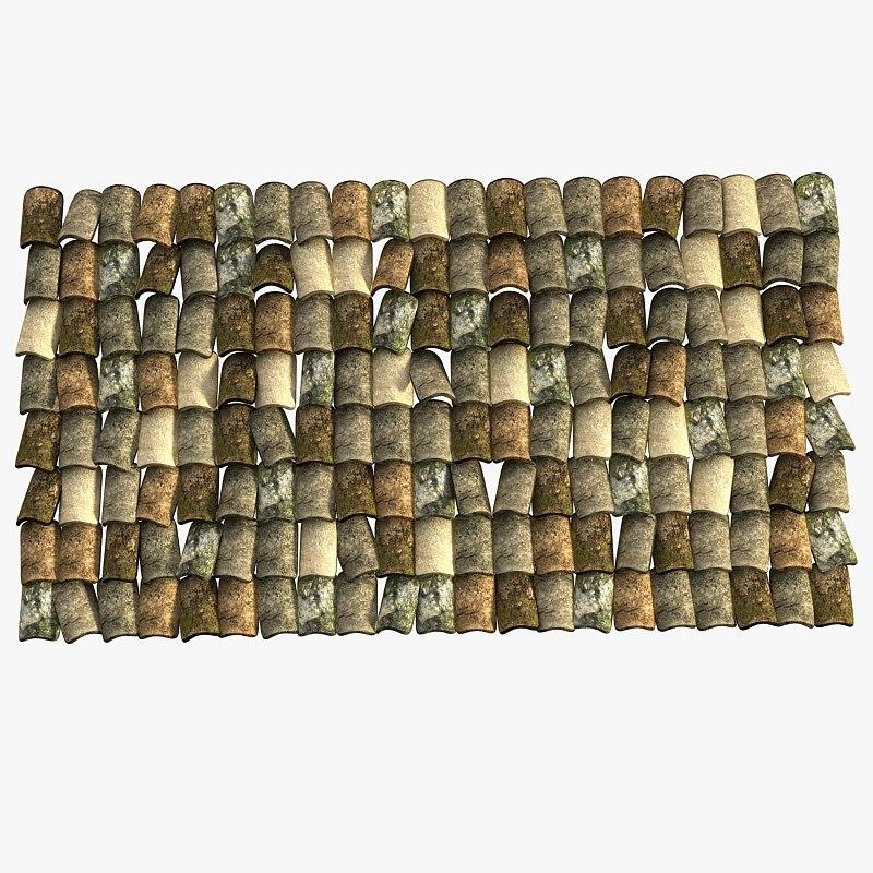3dsmax roof tiles