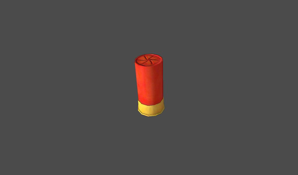 3d model shotgun shell