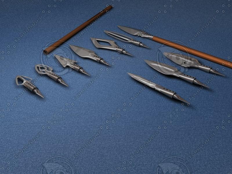 spears weapon 3d model