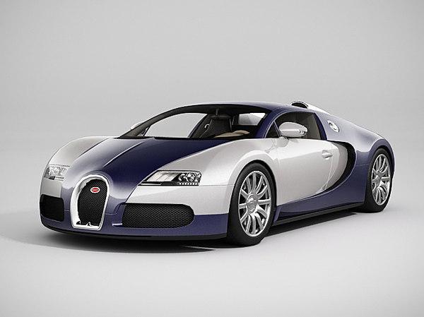 3d model of bugatti veyron