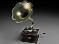 gramophone 3d max
